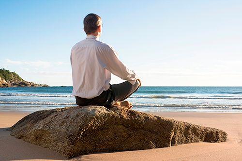 Yoga Posture on the Beach
