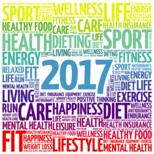 New Year's Resolutions 2017 Word Cloud
